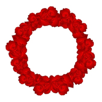 Red carnation flower wreath