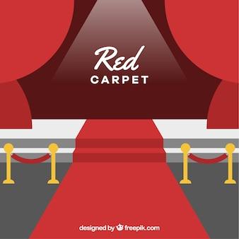 Красный фон ковра в плоском стиле