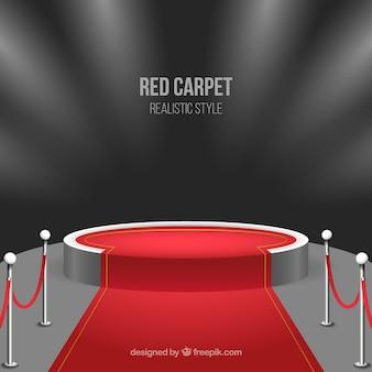 현실적인 스타일의 레드 카펫 배경