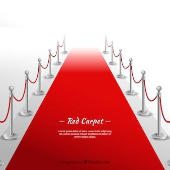 Sfondo di tappeto rosso in stile realistico
