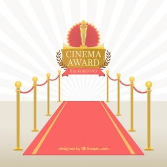 Red carpet of cinema event
