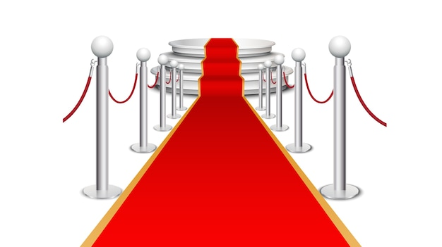 Red carpet on circular staircase