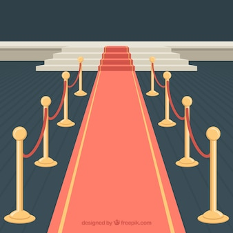 Red carpet design with stairs