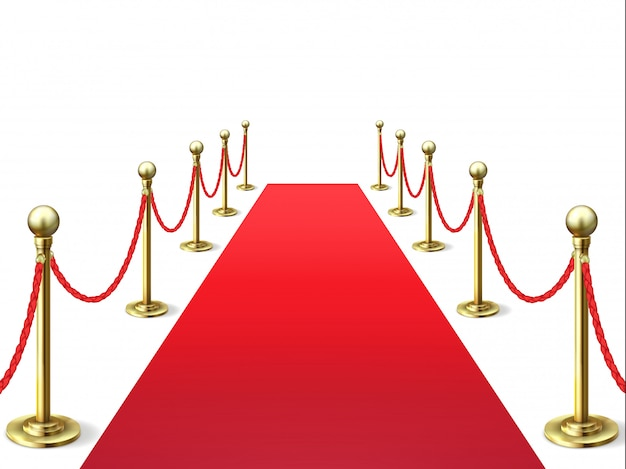 Red carpet. event celebrity carpets with rope barrier.