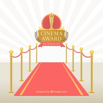 Red carpet of cinema event