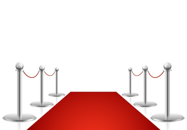 Red carpet vector illustration. awards show background