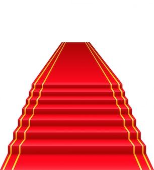 Красная ковровая дорожка векторная иллюстрация