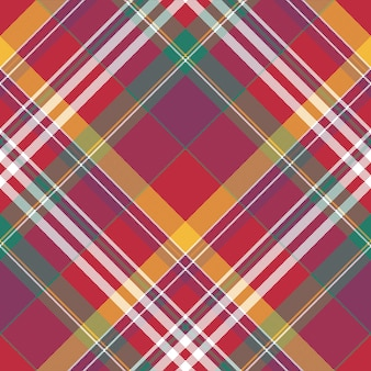 Red check plaid seamless fabric texture summer madras