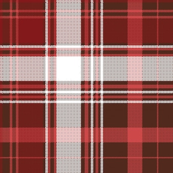 レッドチェックチェック柄織物のシームレスパターン