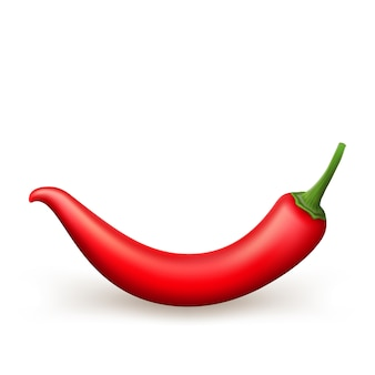 Red chili pepper isolated.