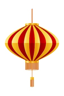 Red chinese lanterns for holiday and festival decoration