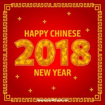 빨간 중국 새 해 배경 디자인