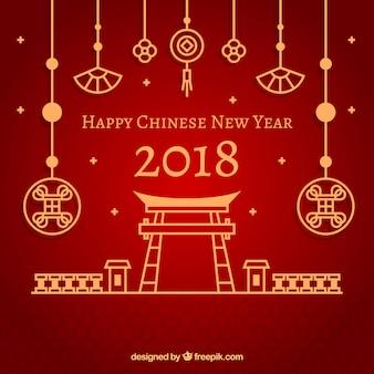 Concetto di nuovo anno cinese rosso