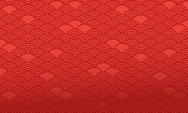 Red chinese pattern, oriental background. vector Premium Vector