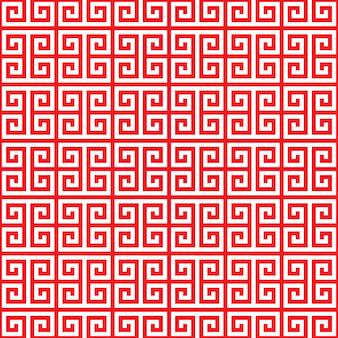 Красный китайский узор бесшовные на белом