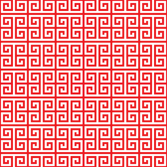Red chinese pattern seamless on white