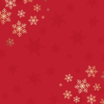 Red christmas background with snowflake design
