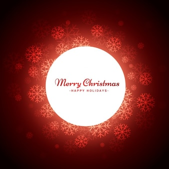 Красный фон рождество с снежинки