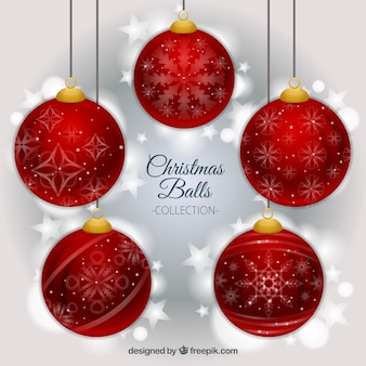 Red christmas ball background
