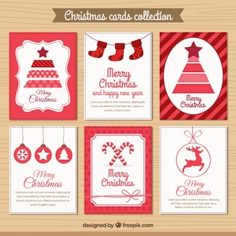 Collezione red christmas card