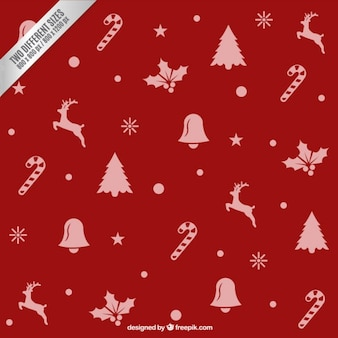 Red christmas elements background