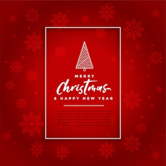 Red christmas festival card celebration background