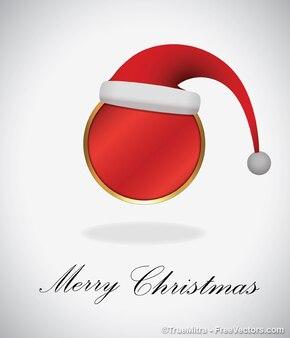 赤いクリスマスの帽子のバナー