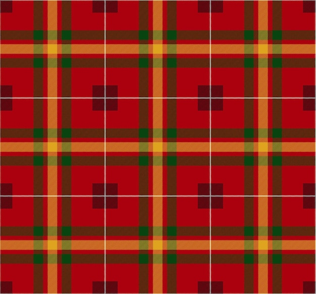 Red christmas pattern. scottish traditional ornament. vector illustration