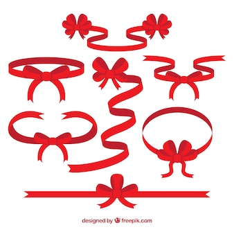 Red christmas ribbons