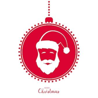 サンタクロースをイメージした赤いクリスマスツリーのおもちゃ