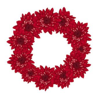 Red chrysanthemum wreath