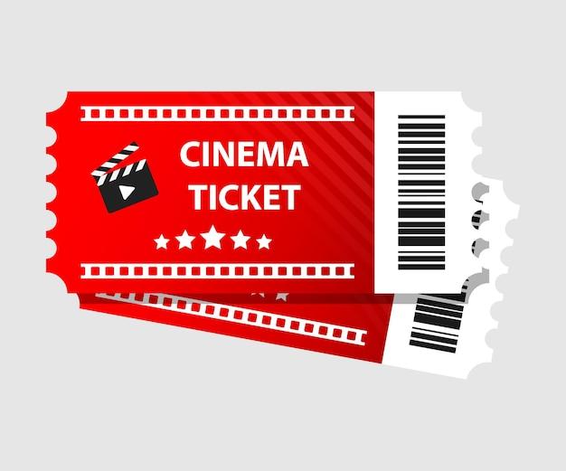 Красная иллюстрация билетов в кино билеты в кино