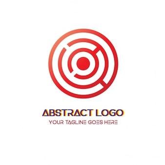金属光沢のある抽象ロゴ