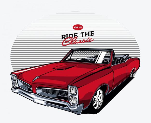 Красный классический автомобиль