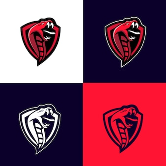 Red cobra snake sport logo