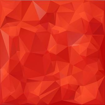 赤い色の3dポリゴンの背景、モダンな折り紙のテクスチャ。ベクトルイラスト。デザイン要素。