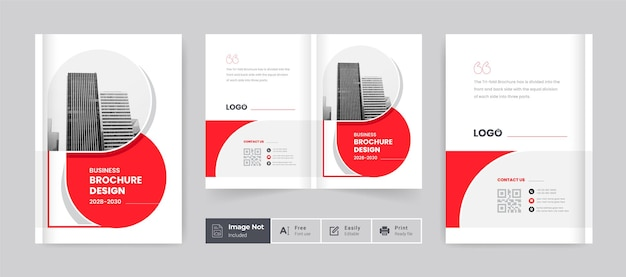 Red color brochure cover template layout design company profile template cover of book cover design