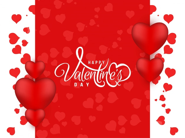 Red color happy valentine's day beautiful background