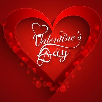 Scheda di amore di colore rosso a forma di cuore