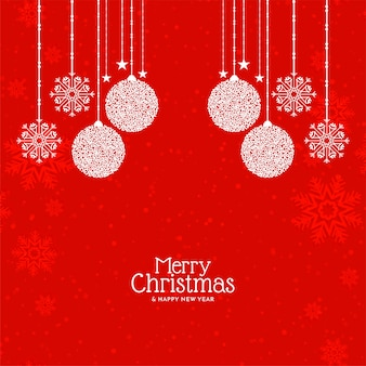 Red color merry christmas festival greeting background