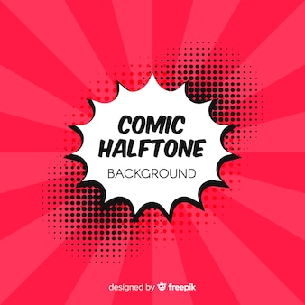 Red comic halftone background