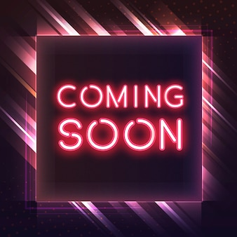 Red coming soon neon icon vector