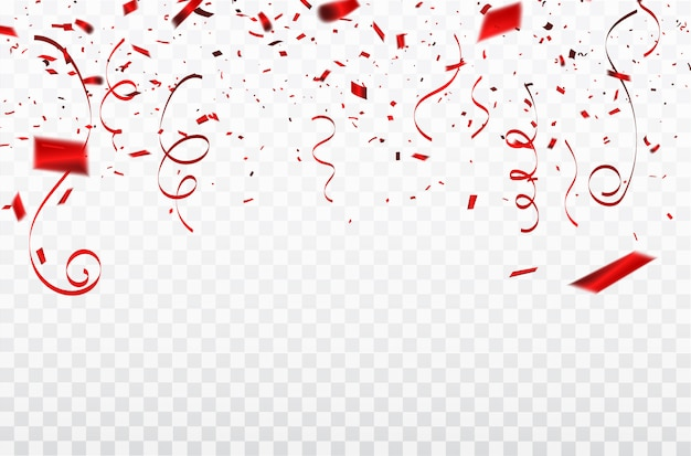 Red confetti concept design template happy valentine's day