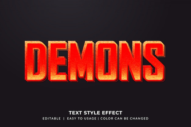 Red contrast text style effect