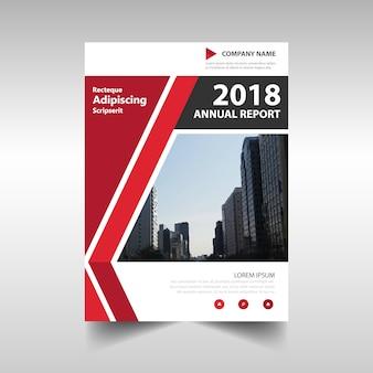 赤い創造的な年次報告書テンプレート