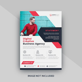 Red corporate business flyer template