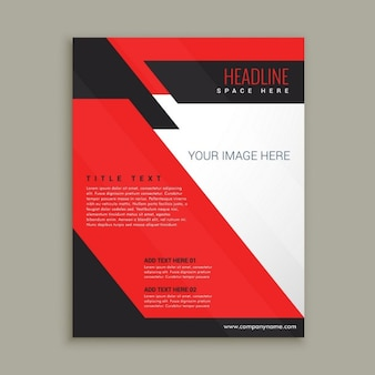 Red corporative brochure template