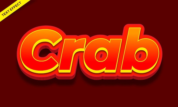 Red crab skin text effect design