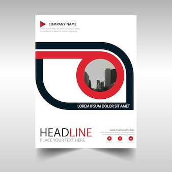 Red creative annual report book cover template