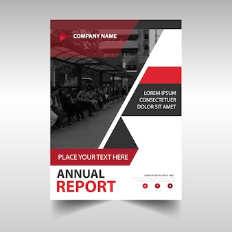 Red creative annual report template